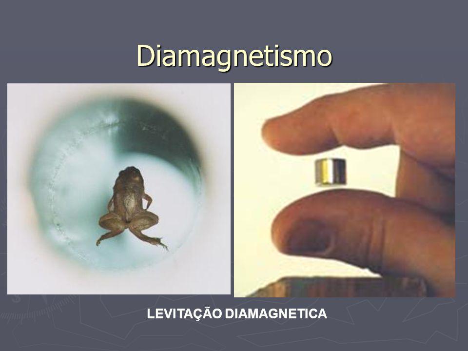 Diamagnetismo LEVITAÇÃO DIAMAGNETICA