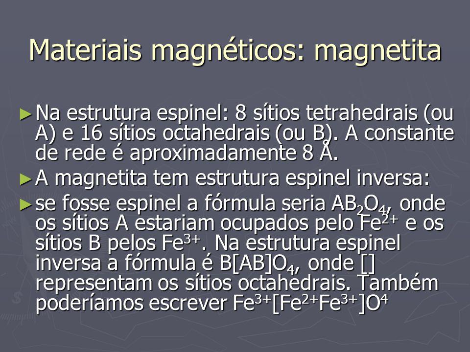 Materiais magnéticos: magnetita