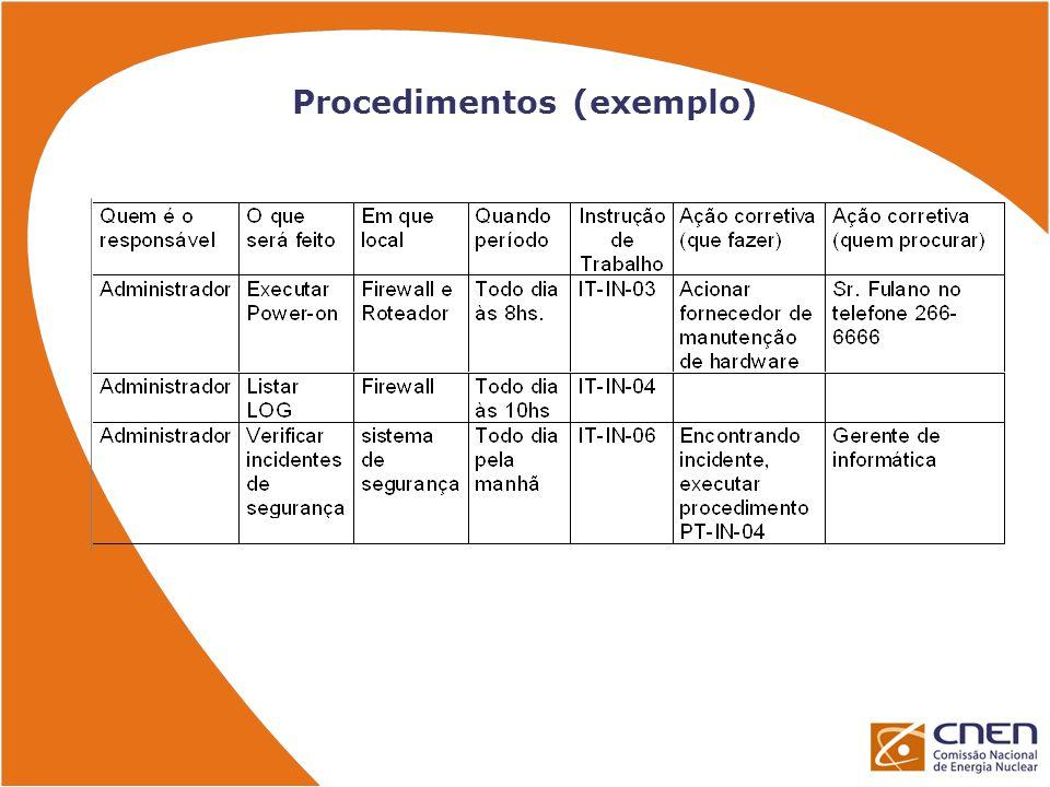 Procedimentos (exemplo)