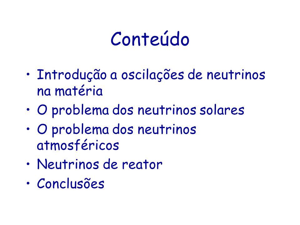 Conteúdo Introdução a oscilações de neutrinos na matéria