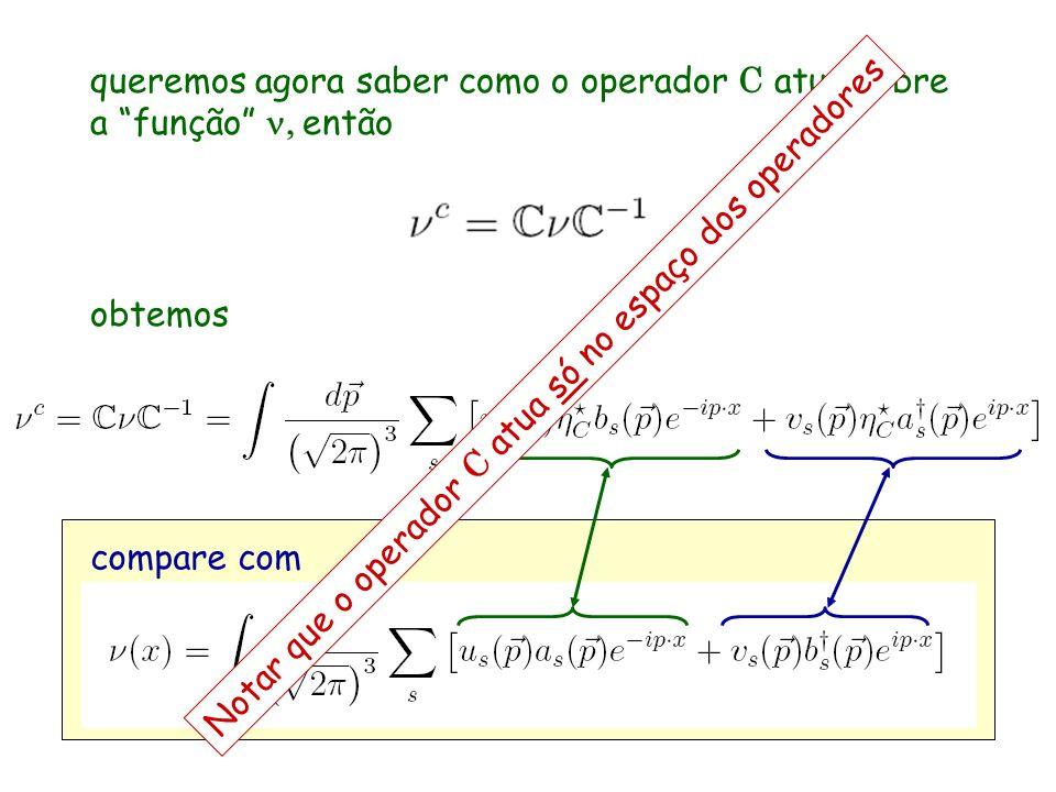 queremos agora saber como o operador C atua sobre a função n, então