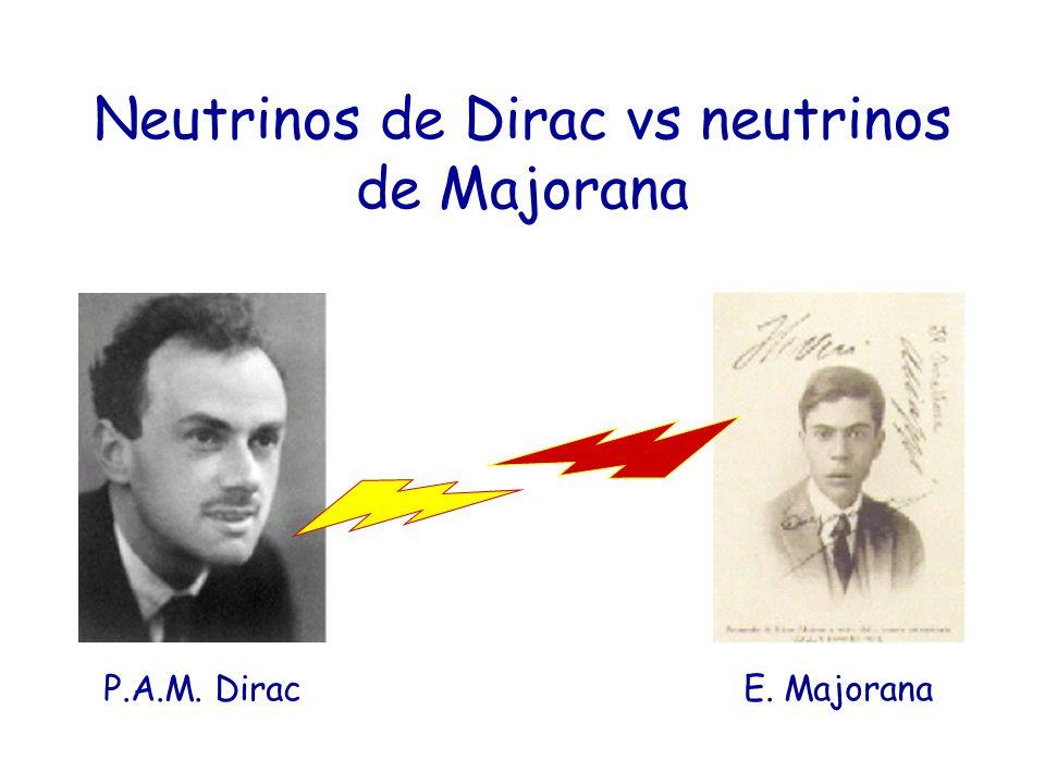 Neutrinos de Dirac vs neutrinos de Majorana