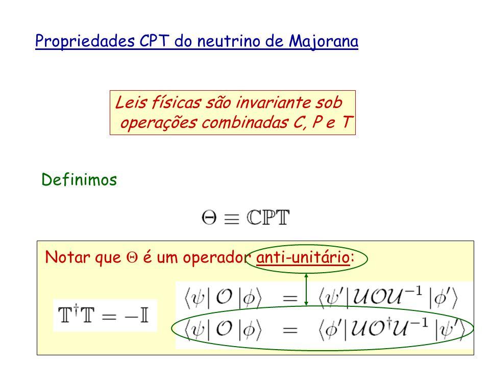 Propriedades CPT do neutrino de Majorana
