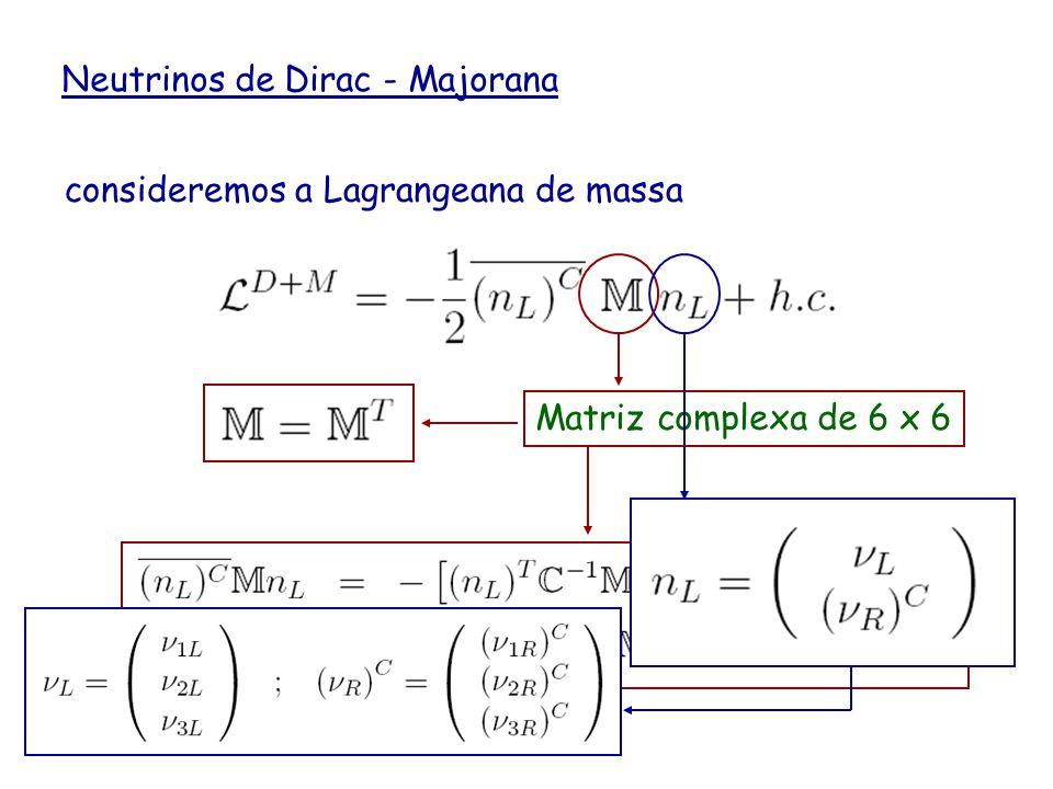 Neutrinos de Dirac - Majorana