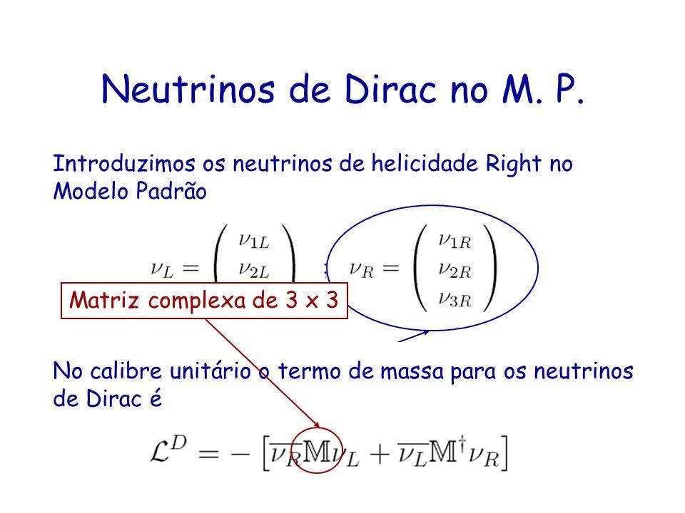 Neutrinos de Dirac no M. P.