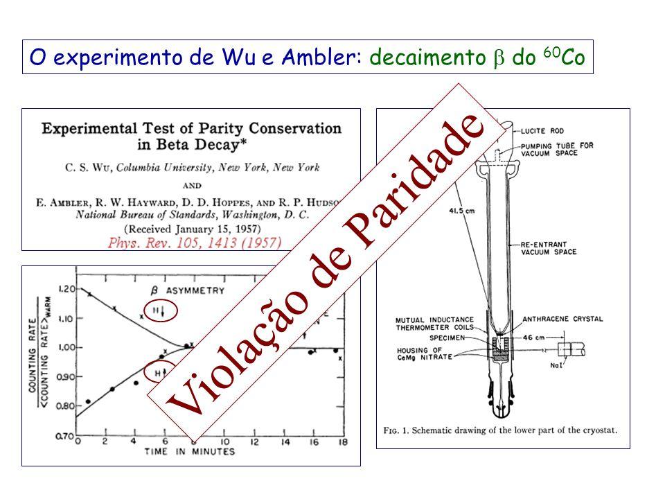 O experimento de Wu e Ambler: decaimento b do 60Co