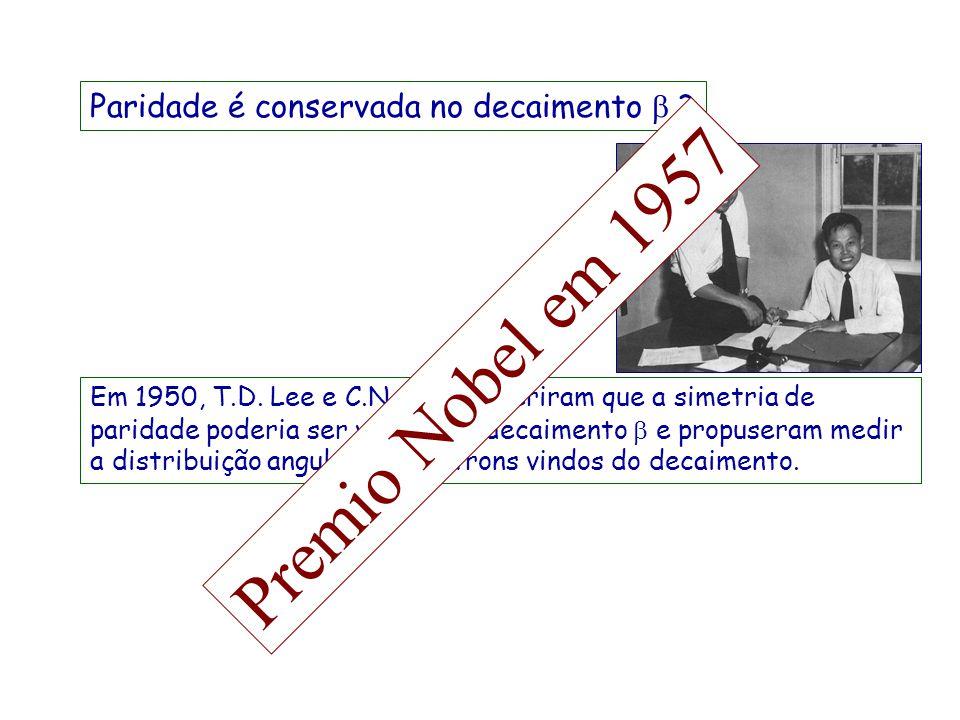 Premio Nobel em 1957 Paridade é conservada no decaimento b