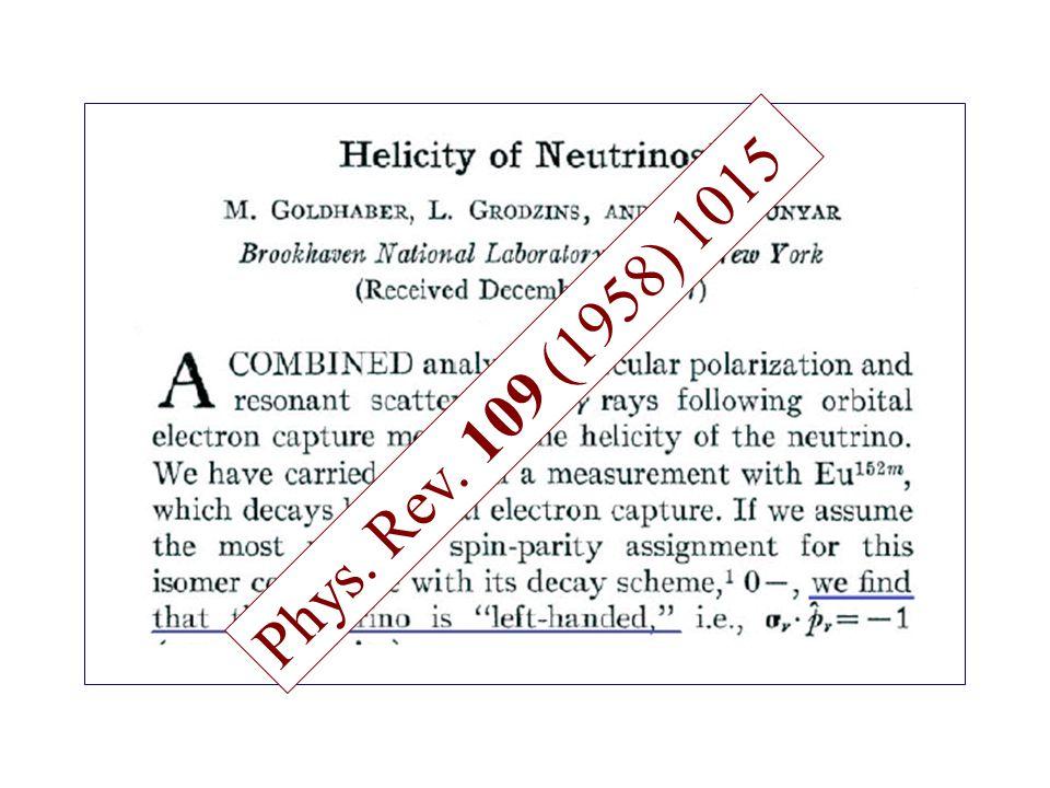 Phys. Rev. 109 (1958) 1015