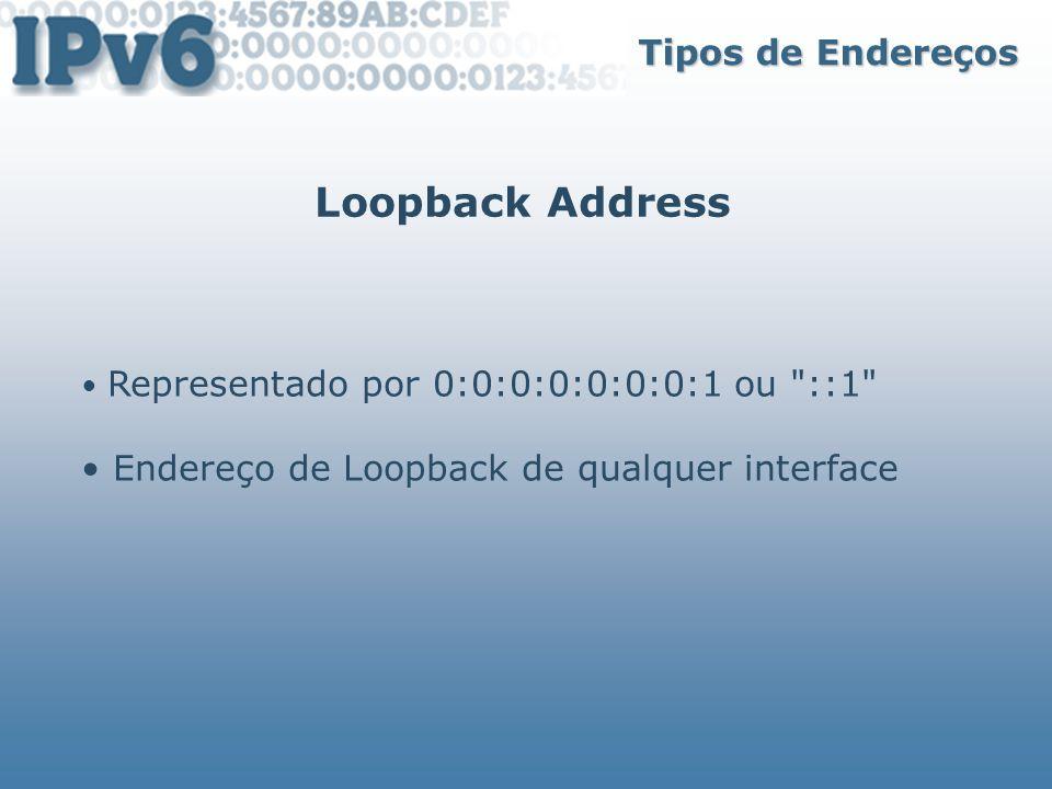 Loopback Address Tipos de Endereços
