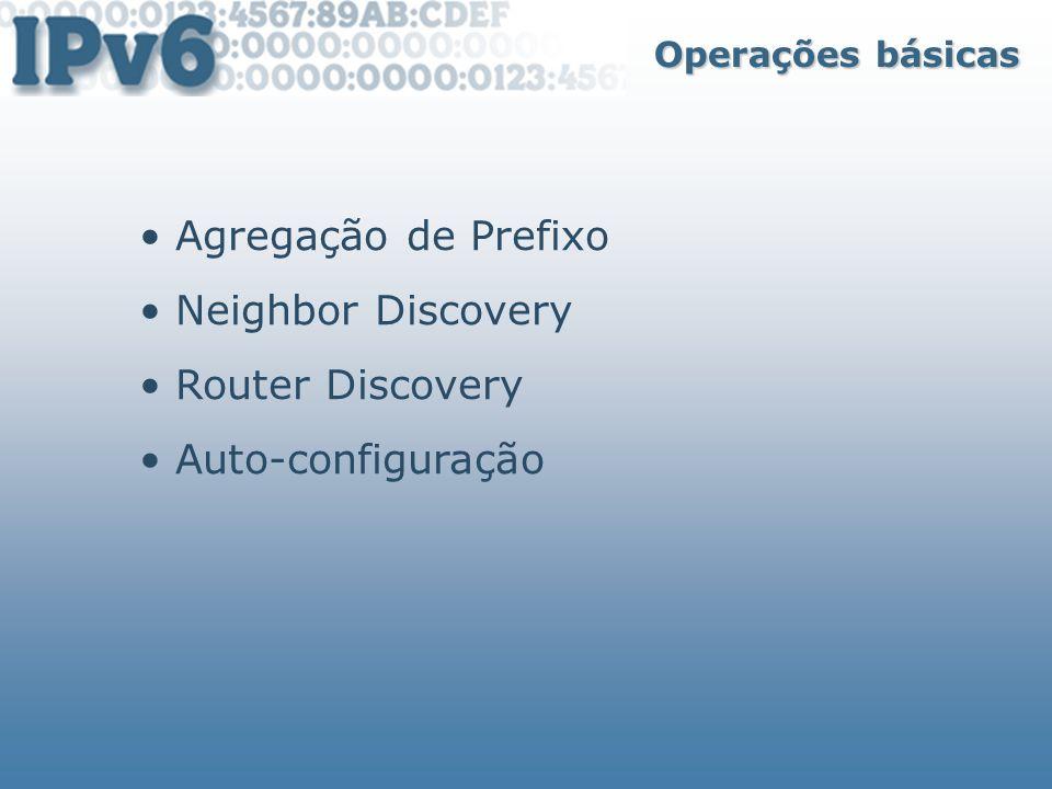 Agregação de Prefixo Neighbor Discovery Router Discovery