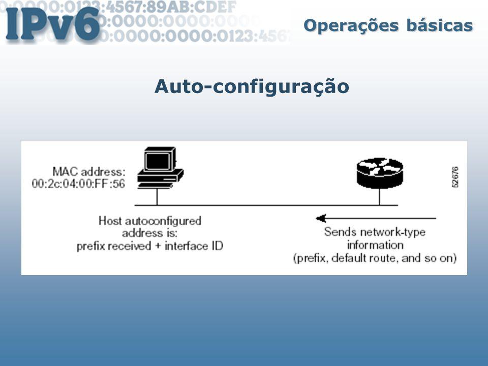 Operações básicas Auto-configuração