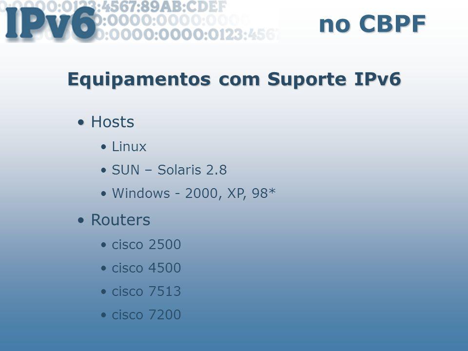Equipamentos com Suporte IPv6