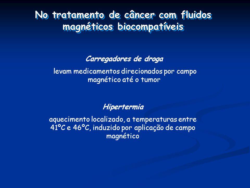 No tratamento de câncer com fluidos magnéticos biocompatíveis
