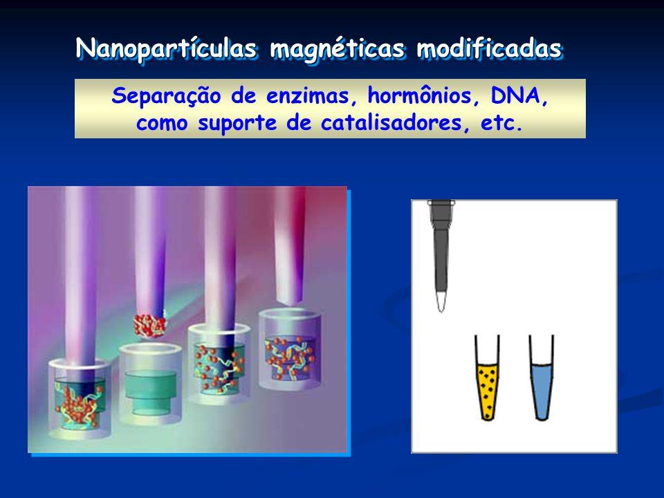 Nanopartículas magnéticas modificadas