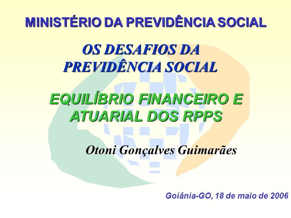 OS DESAFIOS DA PREVIDÊNCIA SOCIAL