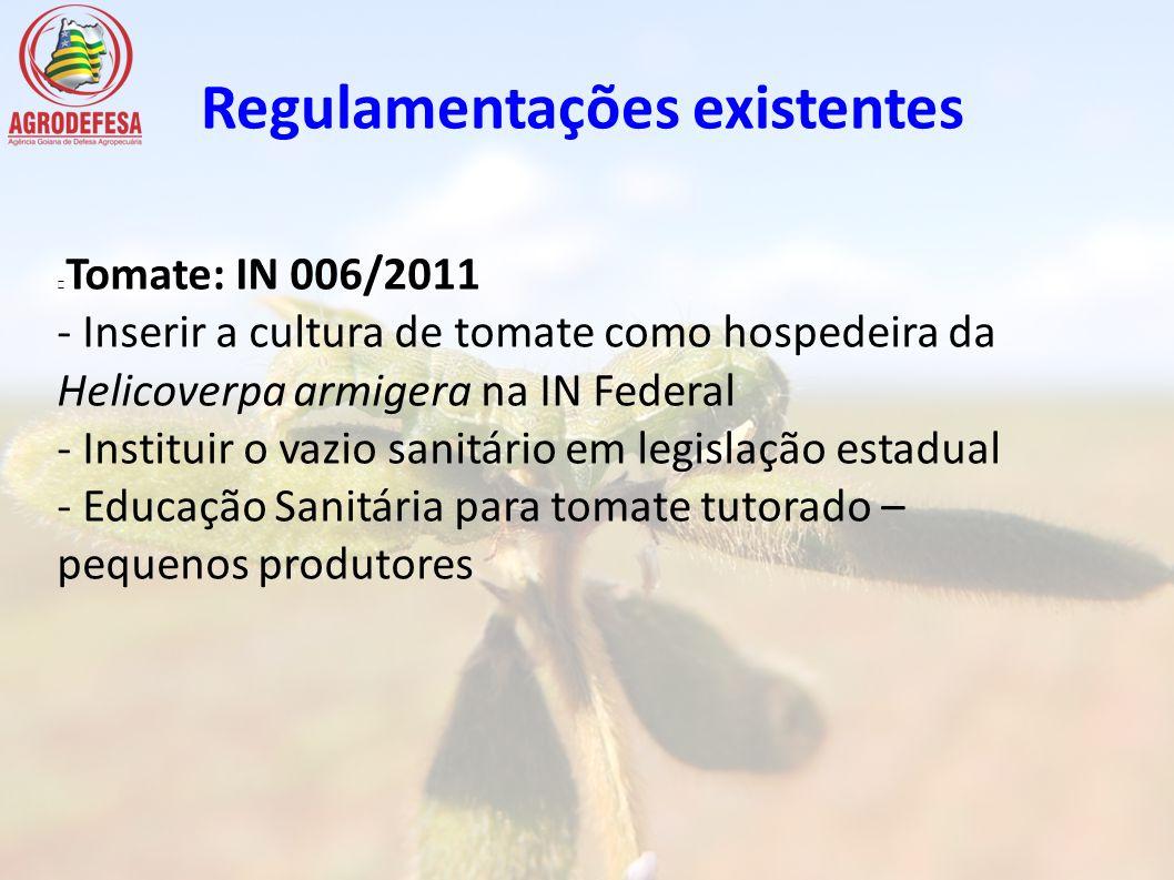 Regulamentações existentes