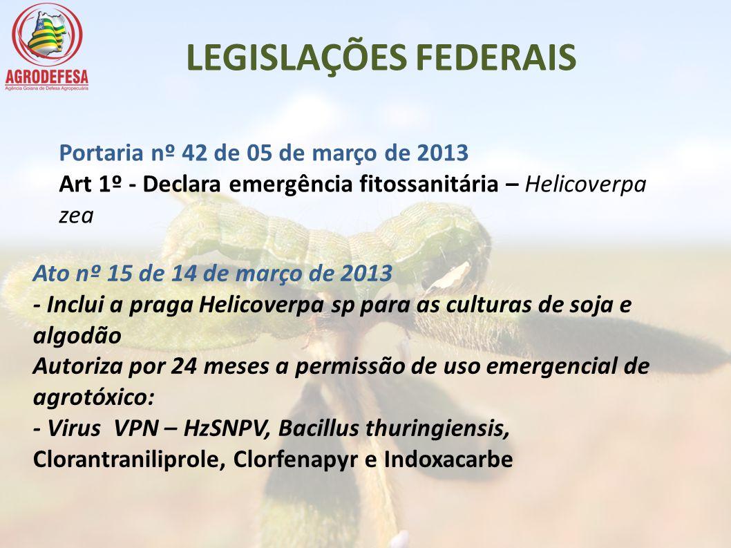 LEGISLAÇÕES FEDERAIS Portaria nº 42 de 05 de março de 2013