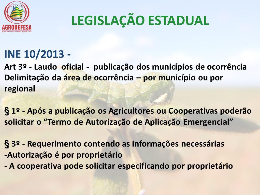 LEGISLAÇÃO ESTADUAL INE 10/2013 -