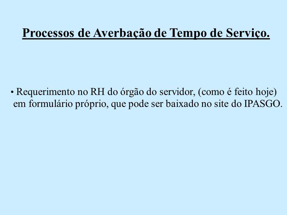 Processos de Averbação de Tempo de Serviço.