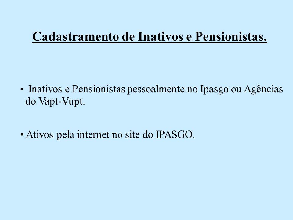 Cadastramento de Inativos e Pensionistas.
