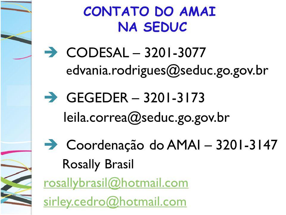 CONTATO DO AMAI NA SEDUC