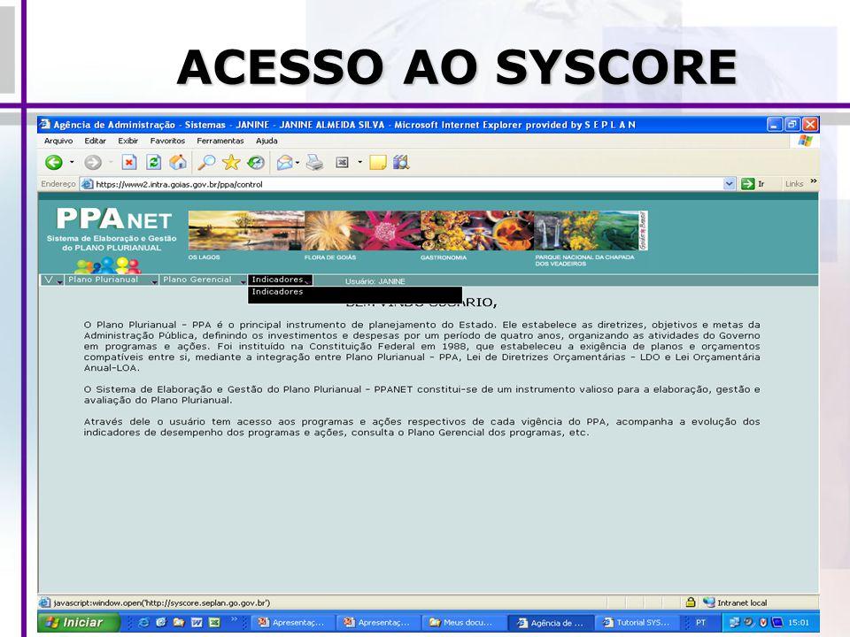 ACESSO AO SYSCORE