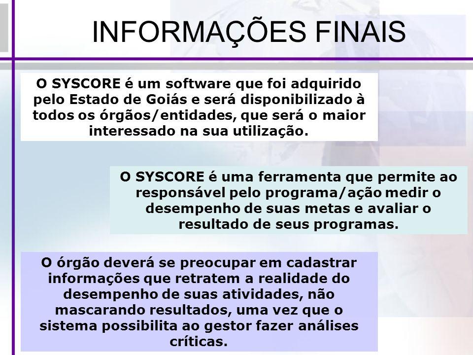INFORMAÇÕES FINAIS