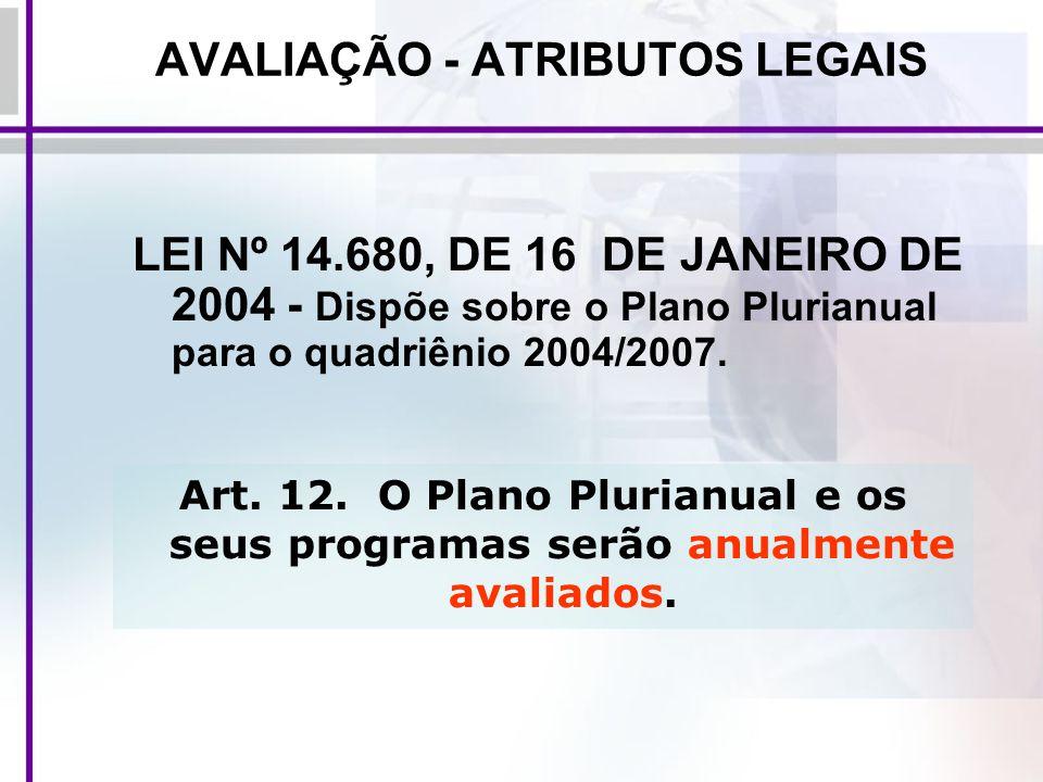 AVALIAÇÃO - ATRIBUTOS LEGAIS