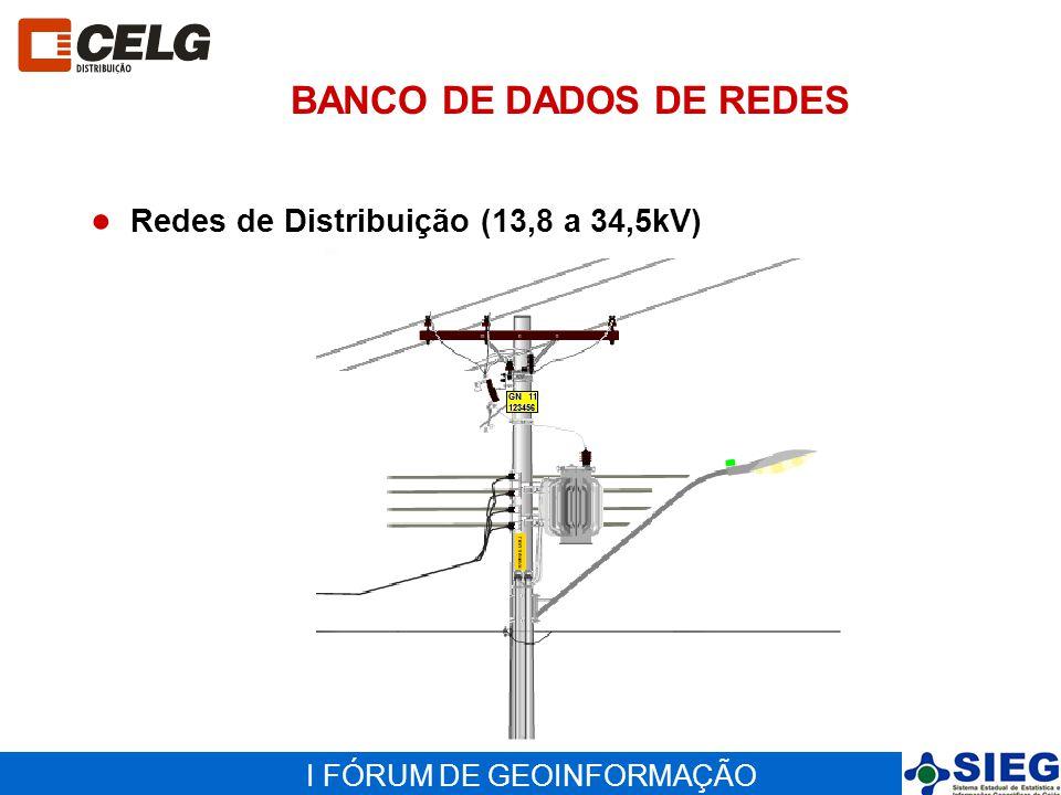 BANCO DE DADOS DE REDES Redes de Distribuição (13,8 a 34,5kV)