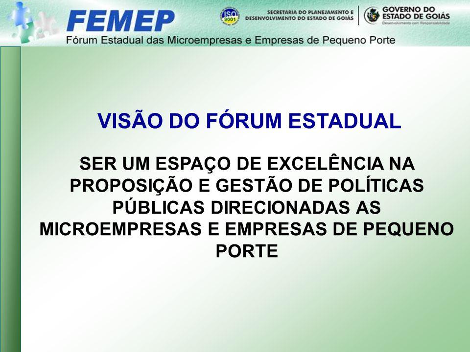 VISÃO DO FÓRUM ESTADUAL