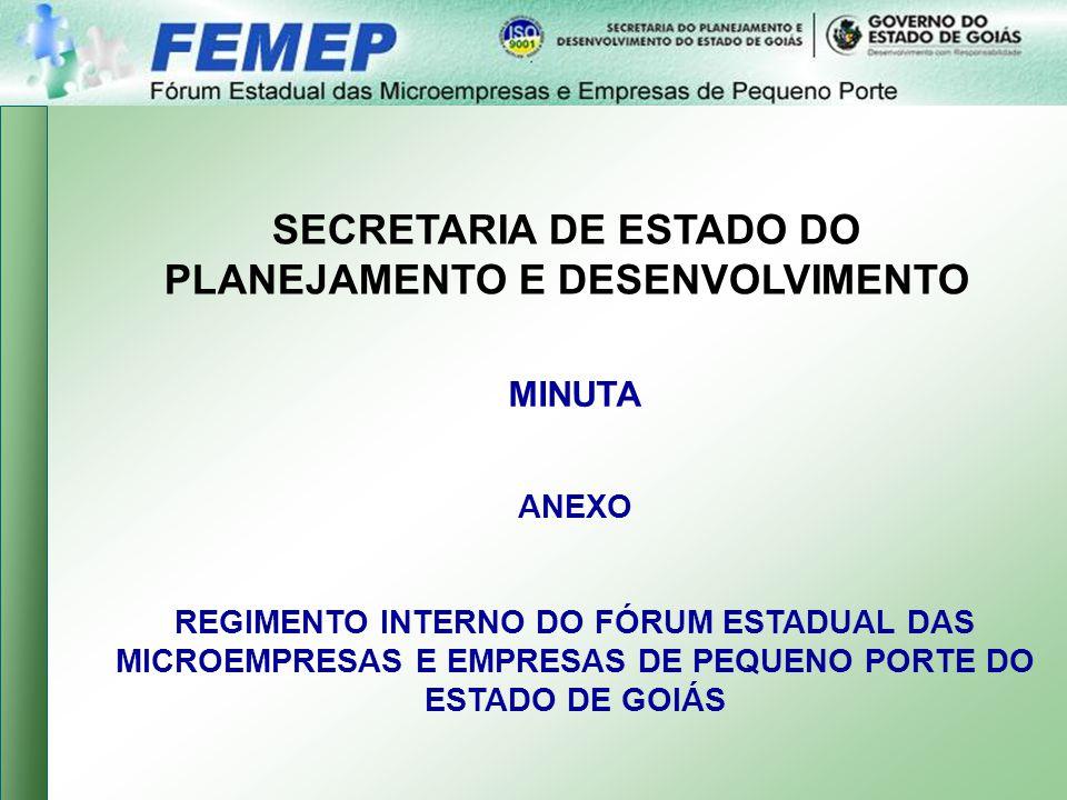 SECRETARIA DE ESTADO DO PLANEJAMENTO E DESENVOLVIMENTO