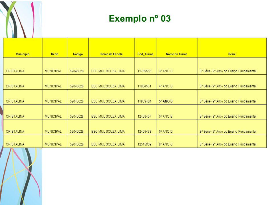 Exemplo nº 03 CRISTALINA MUNICIPAL 52046028 ESC MUL SOUZA LIMA