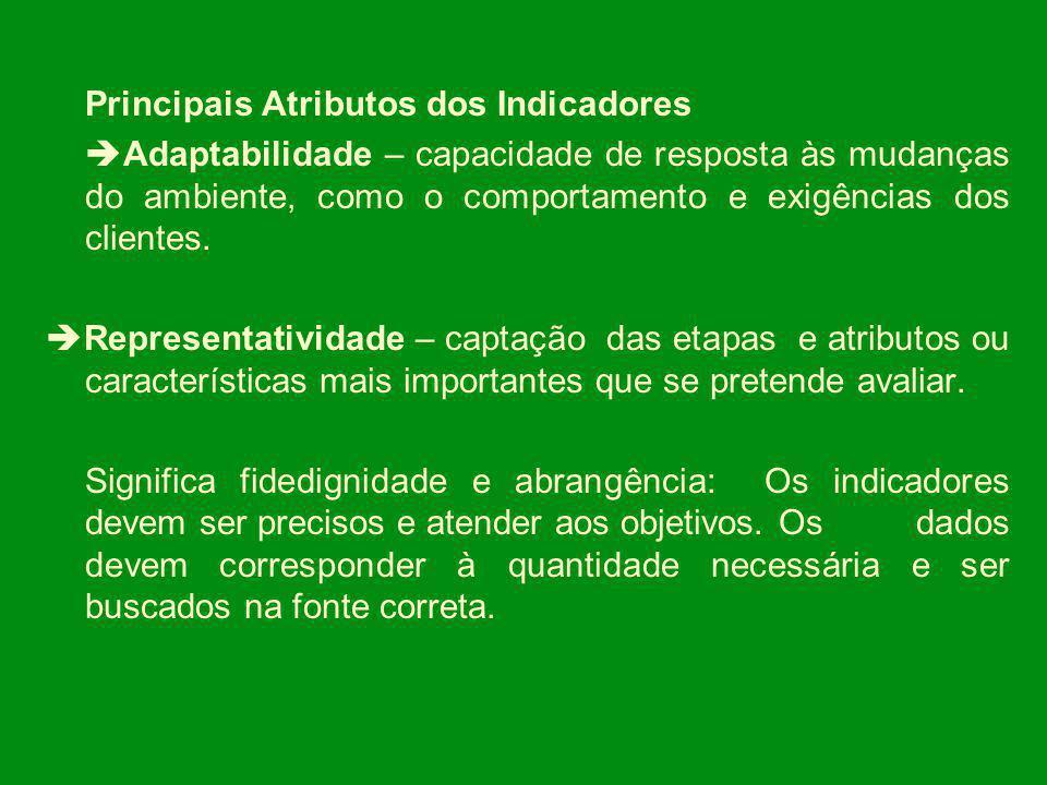 Principais Atributos dos Indicadores.