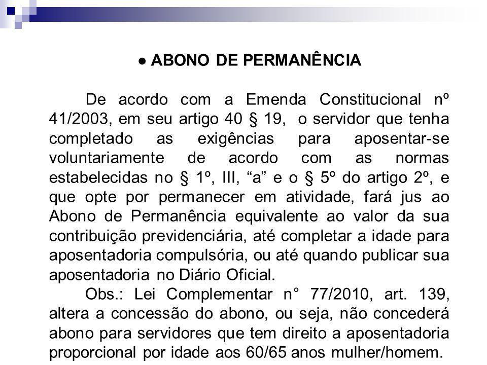 ● ABONO DE PERMANÊNCIA