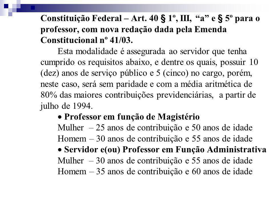 Constituição Federal – Art