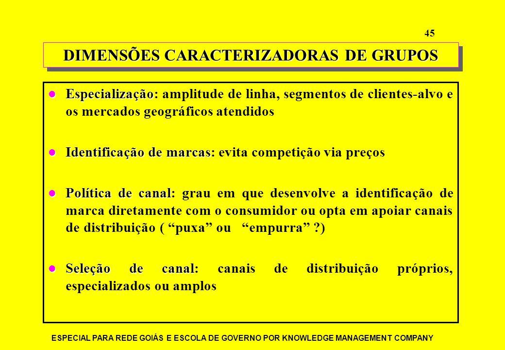 DIMENSÕES CARACTERIZADORAS DE GRUPOS