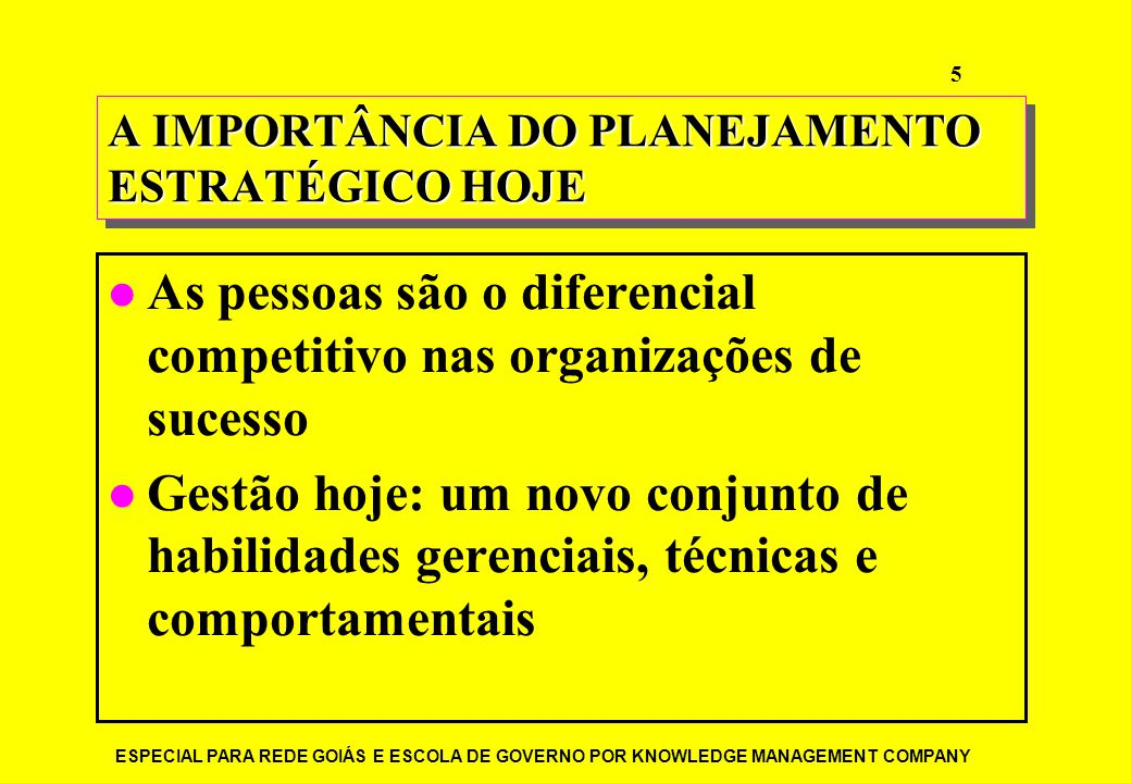 A IMPORTÂNCIA DO PLANEJAMENTO ESTRATÉGICO HOJE