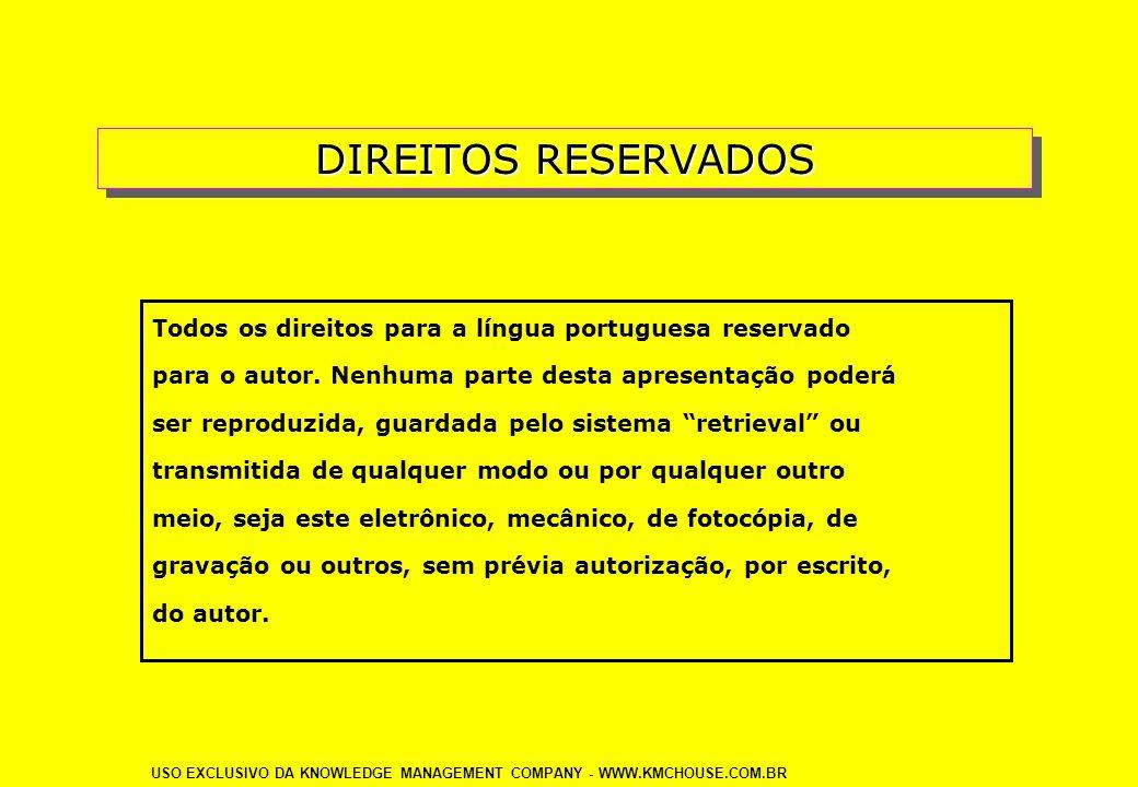 DIREITOS RESERVADOS Todos os direitos para a língua portuguesa reservado. para o autor. Nenhuma parte desta apresentação poderá.