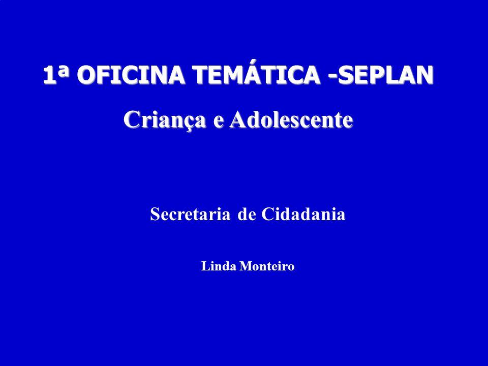 1ª OFICINA TEMÁTICA -SEPLAN Secretaria de Cidadania