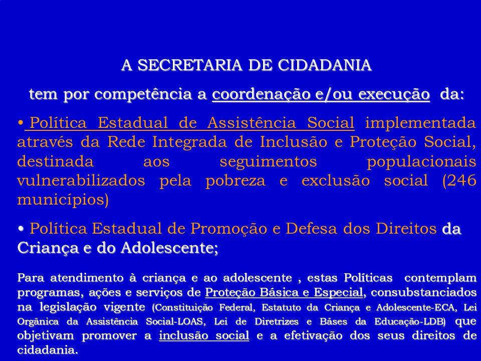 A SECRETARIA DE CIDADANIA