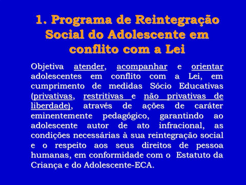 1. Programa de Reintegração Social do Adolescente em conflito com a Lei