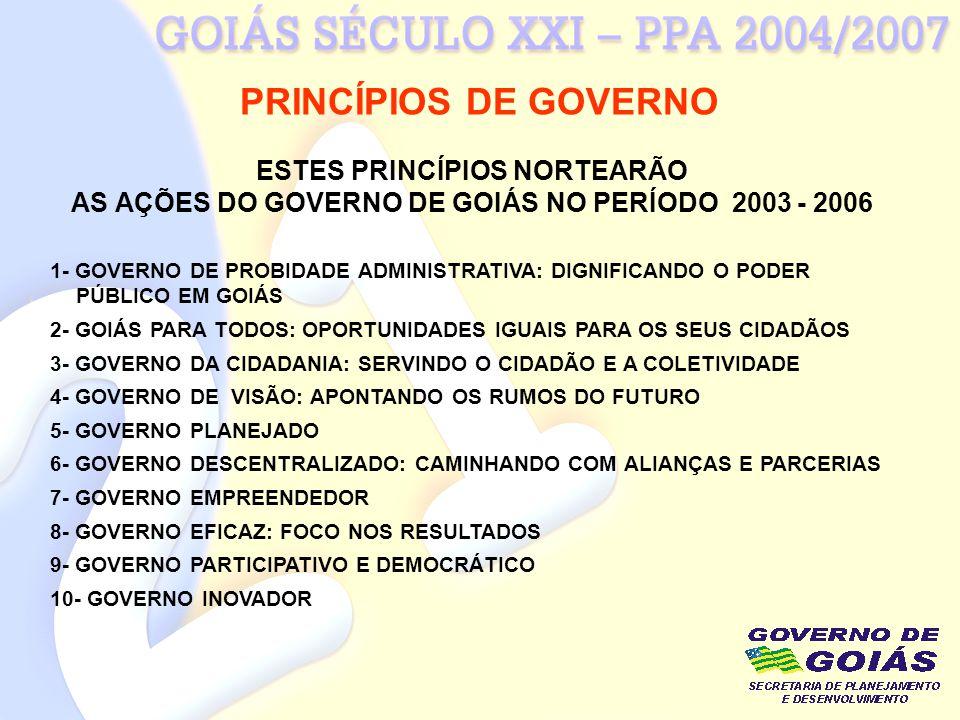 PRINCÍPIOS DE GOVERNO ESTES PRINCÍPIOS NORTEARÃO