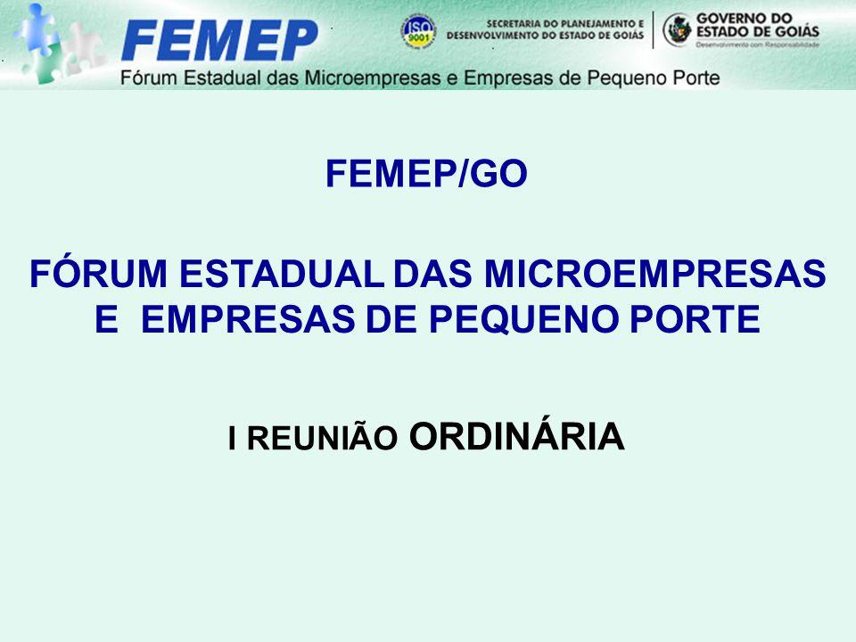 FÓRUM ESTADUAL DAS MICROEMPRESAS E EMPRESAS DE PEQUENO PORTE
