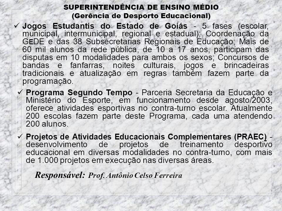 SUPERINTENDÊNCIA DE ENSINO MÉDIO (Gerência de Desporto Educacional)