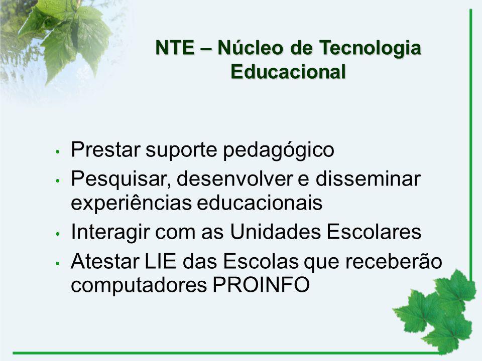 NTE – Núcleo de Tecnologia Educacional