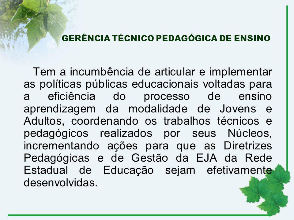 GERÊNCIA TÉCNICO PEDAGÓGICA DE ENSINO
