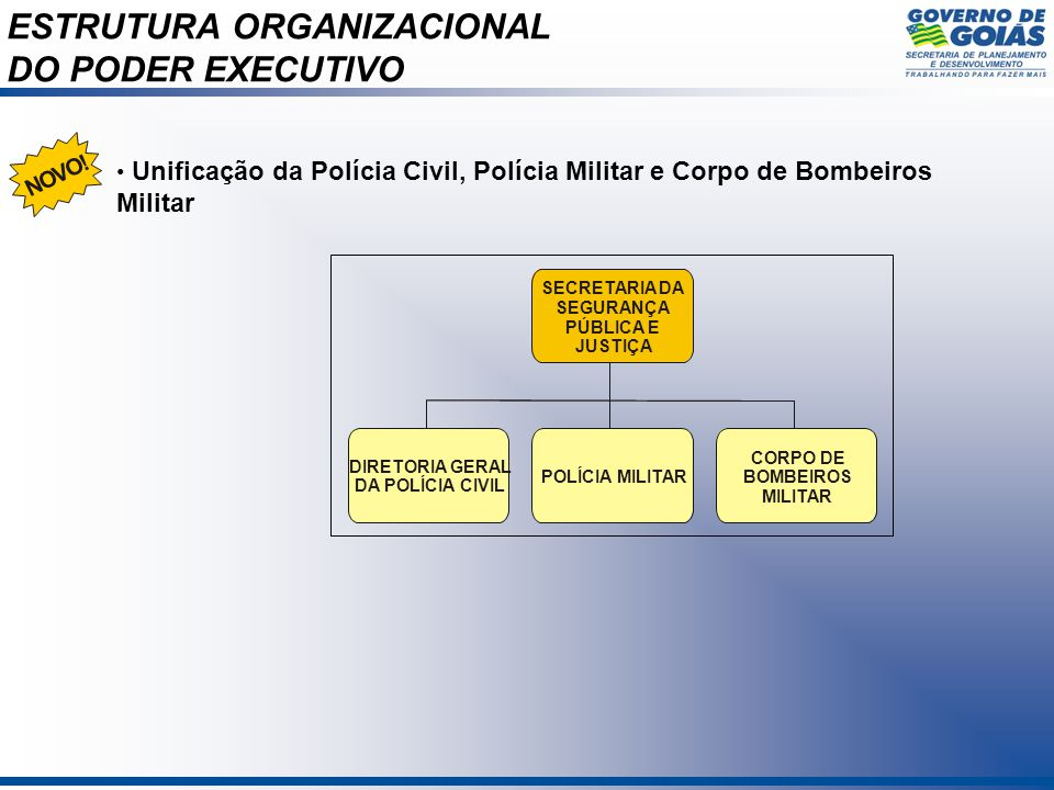 ESTRUTURA ORGANIZACIONAL DO PODER EXECUTIVO