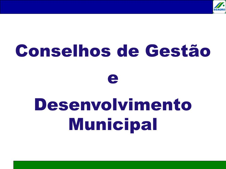 Desenvolvimento Municipal