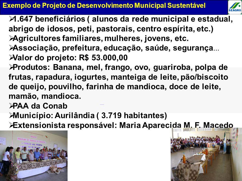 Exemplo de projeto de desenvolvimento municipal