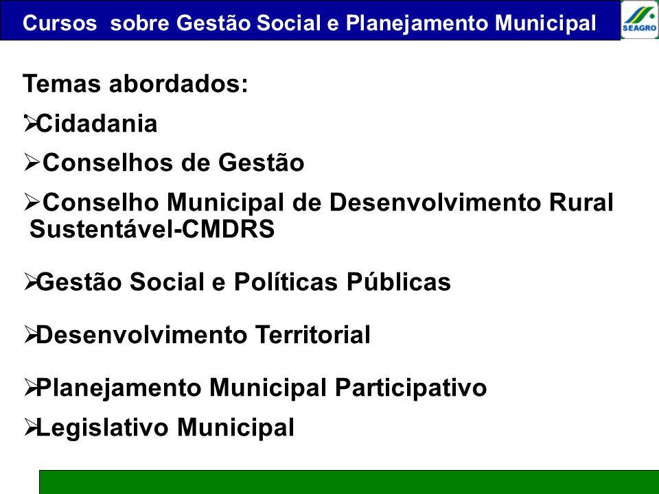 Conselho Municipal de Desenvolvimento Rural Sustentável-CMDRS